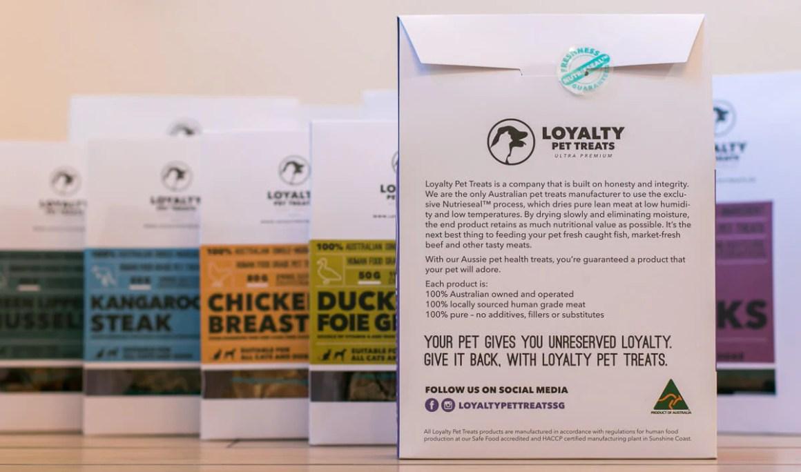 Loyalty Pet Treats Box Back | Vanillapup