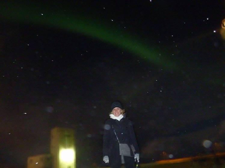 hofit kim cohen during the northern light