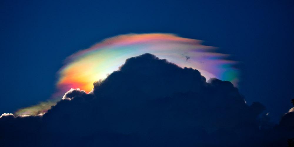 rare circumhorizontal arc - Fire Rainbow
