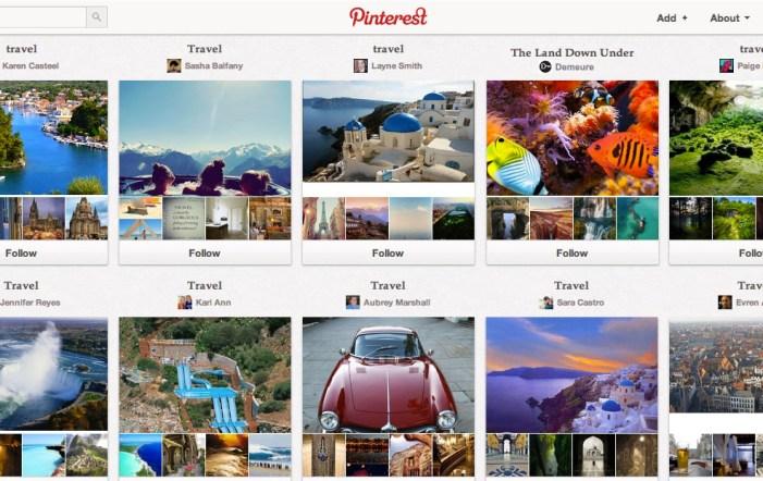 Pinterest  travel board