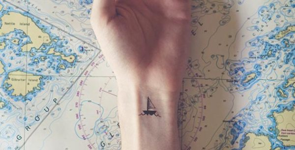 travel sail boat tattoo