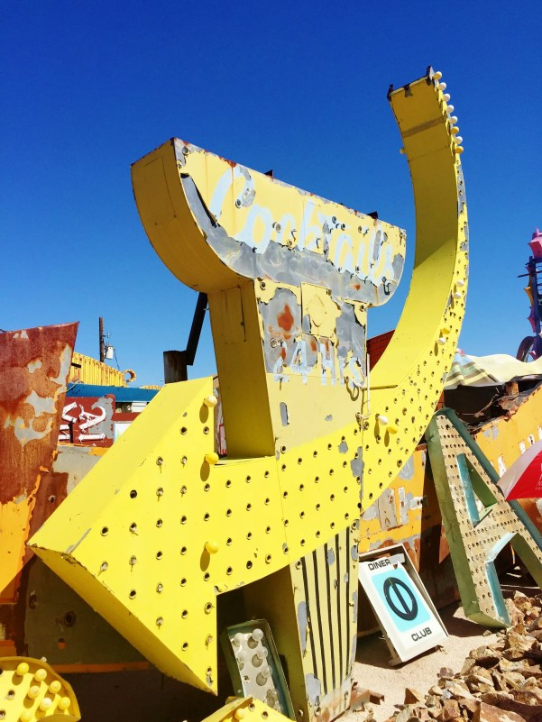 arrow sign at The Neon Museum
