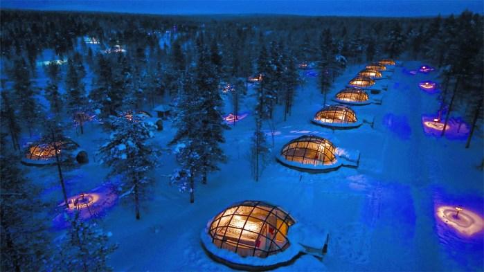 glass igloo hotel in finland