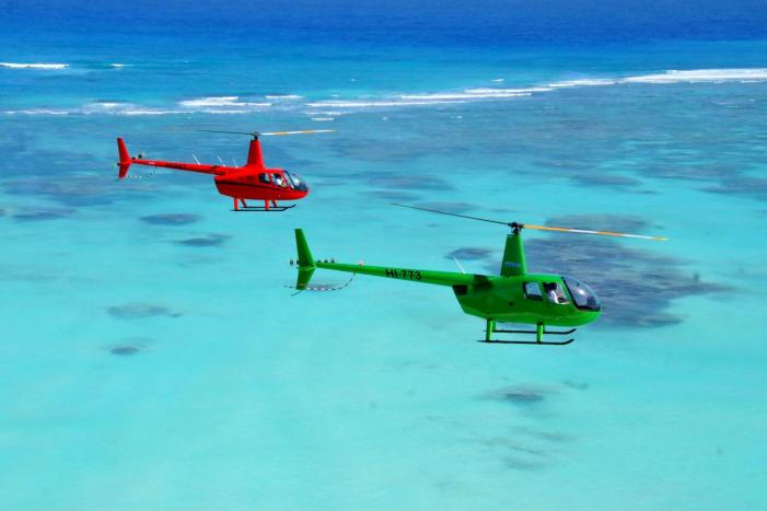Helicopter ride punta cana things to do