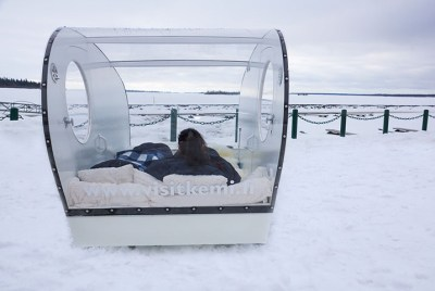 Sleeping in a Olokolo AKA Glass Igloo – Kemi, Finland