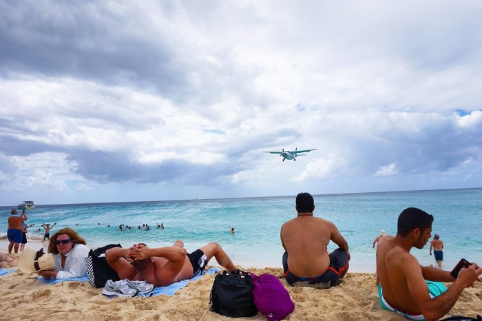 A view from the Maho Beach landing - Small Jet