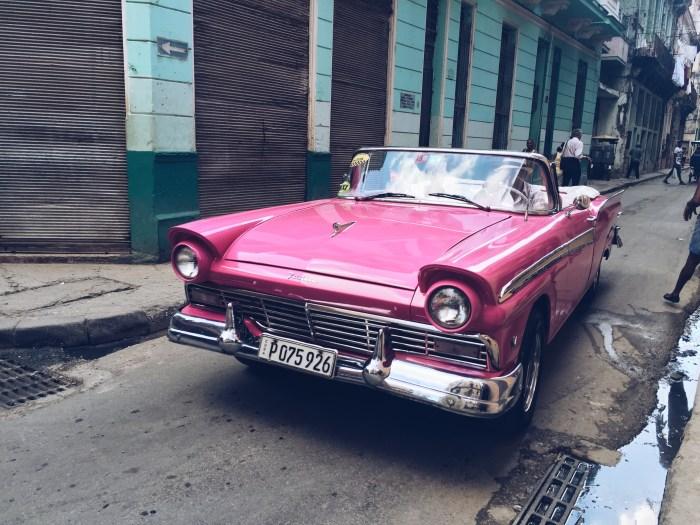 Vintage Classic Car in Pink - Havana, Cuba