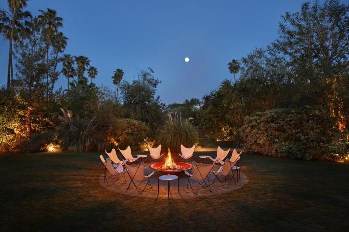 Fire Pit - 7 Of The Best & Instagramable Hotels In Palm Springs - Luxury, Retro & Chic