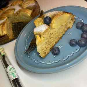 Apfel-Vanillekuchen von @veganeslisal