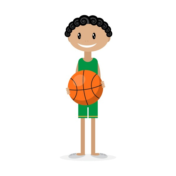 How to Illustrate a Cute Basketball Player with Simple Shapes