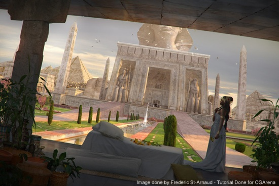 Matte Painting: Cleopatra Queen of Egypt