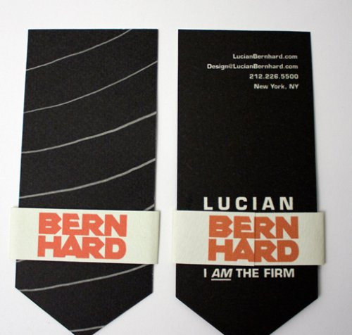 Tie-Shaped Business Card