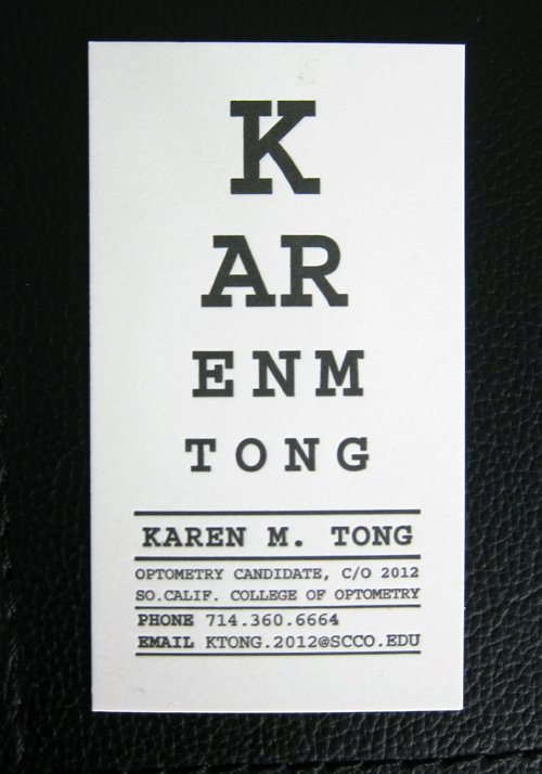 Optometrist Business Card