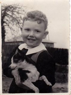 Cousin Tusiek Lippman with dog. Tusiek was shot in 1944. © Józef Lipman