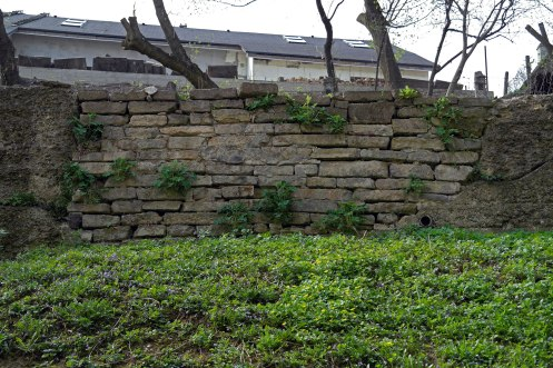 Czernowitz Old Jewish Cemetery - wall consisting of tombstones