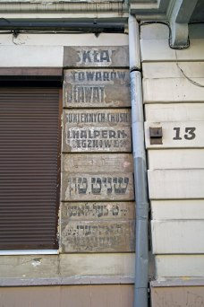 Remains of former shop signs