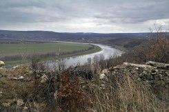 Tirgul Vertiujeni - view towards river Dniester from the Jewish cemetery