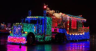 15th Island Equipment Owners Association Truck Light Parade Van Isle Marina