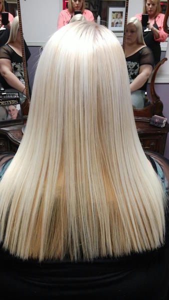 High Lift Lightener and Gold Peekaboo with Pravana Smoothing Treatment