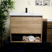 EDEN 600mm White Oak Timber Look Wood Grain Wall Hung Vanity-38