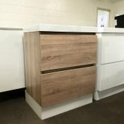 ASTRA Slimline 600mm White Oak Timber Look Wood Grain Vanity with Polymarble Top-14