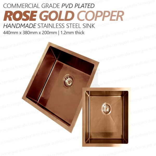 440x380mm-Square-ROSE-GOLDCopper-Premium-Stainless-Steel-LaundryKitchen-Sink-254519809900