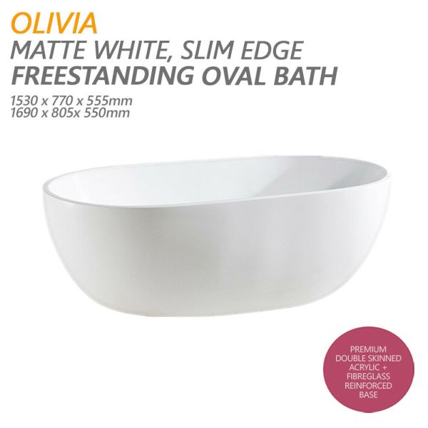 OLIVIA-1500mm-1700mm-Matte-White-Oval-Freestanding-Lucite-Acrylic-Bath-Tub-254635377490