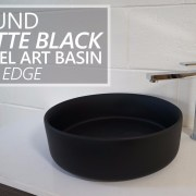 Round-MATTE-BLACK-Thin-Edge-Vessel-Counter-Top-Bench-Mount-Art-Basin-Bowl-Sink-253200487310