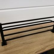 Solid-Brass-MATTE-BLACK-Square-Double-Shelf-Multi-Storage-Towel-Rack-Rail-Holder-252663570470-6