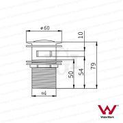 Modern-Round-Flat-32mm-Polished-ROSE-GOLD-Pop-Up-Push-Plug-Waste-wwo-OVERFLOW-253319722171-5