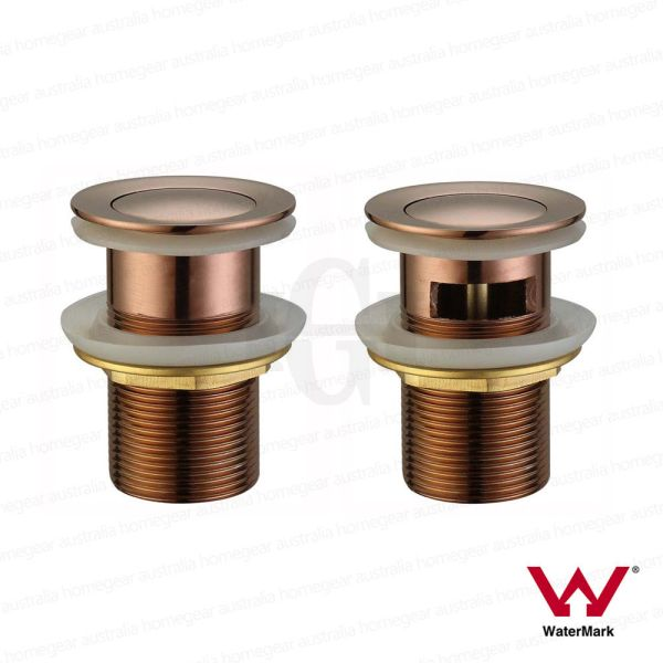 Modern-Round-Flat-32mm-Polished-ROSE-GOLD-Pop-Up-Push-Plug-Waste-wwo-OVERFLOW-253319722171