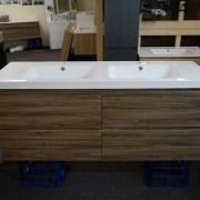 SIENA-1500mm-Walnut-Oak-PVC-THERMAL-FOIL-Timber-Wood-Grain-Double-Vanity-252948291762-2