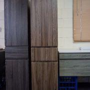 1680mm-White-Oak-Timber-Wood-Grain-Bathroom-Tallboy-Side-Cabinet-w-Glass-Shelves-252942799223-3