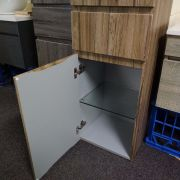 1680mm-White-Oak-Timber-Wood-Grain-Bathroom-Tallboy-Side-Cabinet-w-Glass-Shelves-252942799223-6