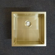 450mm-Square-LIGHT-GOLD-304-Stainless-Steel-LaundryKitchen-Sink-Premium-PVD-253206077023-9