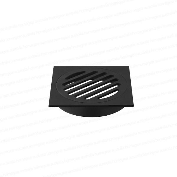 Premium-Electroplated-Square-Matte-Black-Floor-Waste-Grate-Drain-253110696373
