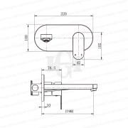 EVA-Premium-Grade-Round-Matte-Black-Wall-Mount-BathBasin-Spout-Mixer-Combo-Set-253137343564-2