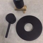 FOSCA-Round-MATTE-BLACK-Lollipop-Pin-Lever-Wall-Mount-ShowerBath-Mixer-252846607554-10