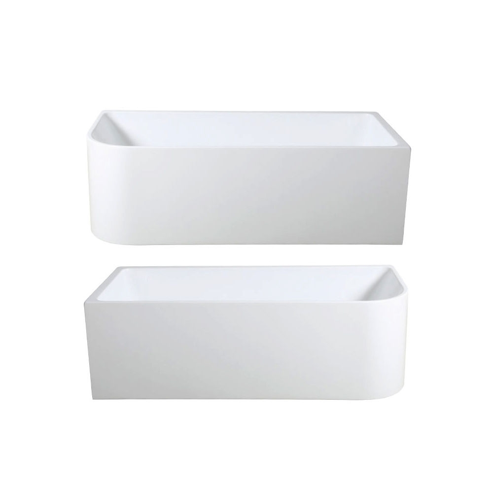 Miranda Corner Back To Wall Freestanding Lucite 174 Acrylic Bath Tub 1500mm 1700mm Homegear