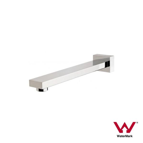 Premium-Grade-Square-CHROME-Wall-Mount-Water-Spout-Outlet-for-Bath-Sink-Basin-AU-252975088994