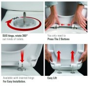 Round-D-Shape-Duraplast-Top-Fixing-Soft-Close-Quick-Release-Slim-Toilet-Seat-253101614125-9
