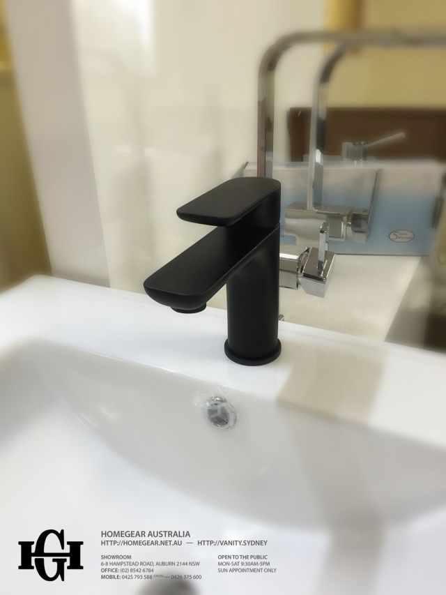 PLUSH Matte Black Square & Round Bathroom Basin Mixer