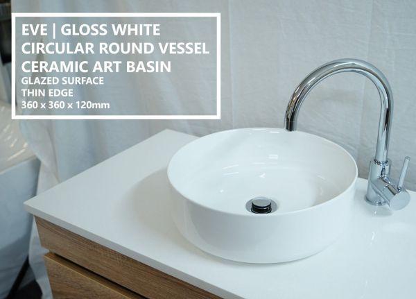 EVE-Round-Circular-Gloss-White-Ceramic-Above-Counter-Bowl-Basin-Sink-Thin-Edge-253951967456