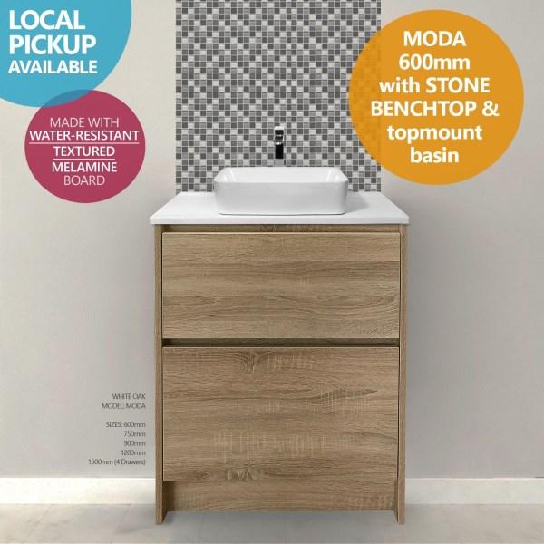 MODA-600mm-White-Oak-Timber-Wood-Grain-FreestandingFloorstanding-Vanity-w-Stone-252681370347