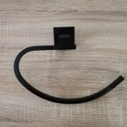 Modern-MATTE-BLACK-Brass-Square-Curved-Small-Face-or-Hand-Towel-Holder-Ring-Rail-252663915817-2