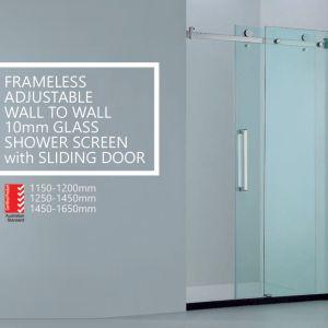 Frameless Glass Shower Screen Diamond Square Quadrant