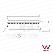 900mm-LAUXES-Cellini-Aluminium-Silver-Slimline-Tile-Insert-Floor-Drain-Waste-253221990848-3
