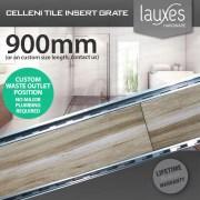 900mm-LAUXES-Cellini-Aluminium-Silver-Slimline-Tile-Insert-Floor-Drain-Waste-253221990848