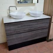 BOGETTA-1200mm-Sonoma-Oak-Grey-PVC-THERMAL-FOIL-Wood-Grain-Double-Vanity-w-Stone-252958600568-9