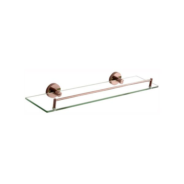 FOSCA-Round-Rose-Gold-Wall-Mount-Glass-Shower-Shelf-Tray-PVD-Electroplated-253426097618